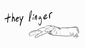 screenshot from They Linger, a visual arts project