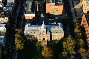 Aerial view of EAS building