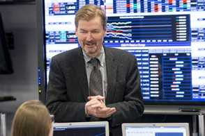 Dr. George Calhoun is the director of the Hanlon Center, which uses high-tech tools and systems to investigate problems in finance and analytics.