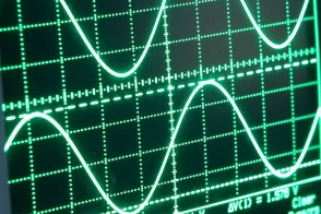 screen with electric waves