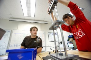 Stevens students in a lab