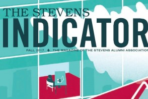 Cover of the Fall 2017 issue of the Stevens Indicator