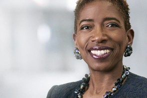 Carla Harris smiling at camera
