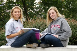 Two female Stevens students