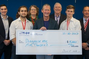 Diagnose.me team from Stevens hackathon also won a prize at the Health Care Transformation Challenge.