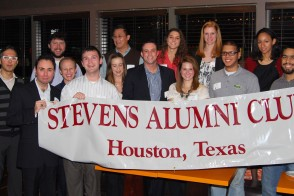 Picture of a gathering of the Houston Alumni Club
