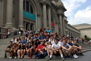 Group of students at the Metropolitan Museum of Art in New York City