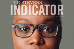cover of current issue of the Stevens Indicator alumni magazine