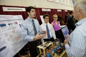 Students exhibiting their project at the Annual Innovation Expo