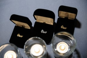 Picture of the pins given to members of the Edwin A. Stevens Society