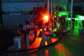 Colorful image of physics laser