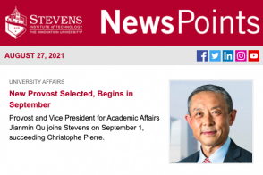 cover of August 2021 NewsPoints email