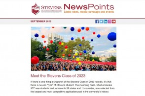 Screen capture of NewsPoints September 2019 edition