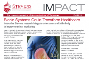 Cover of Stevens research newsletter IMPACT