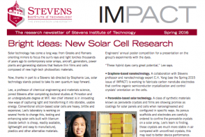 Cover of current IMPACT, the Stevens research newsletter