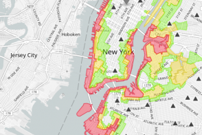 New York City flood zone map