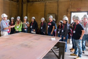 Students on a site visit
