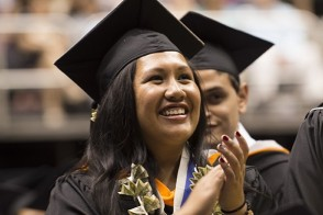 Student at Commencement