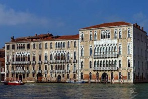 The campus of Ca' Foscari, in Venice. A canal is visible in the foreground.