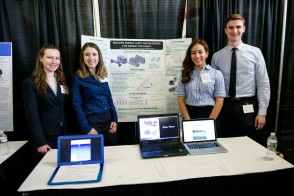 Student presentation at the Innovation Expo