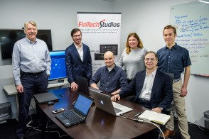 Photo of members of the FinTech Studios.