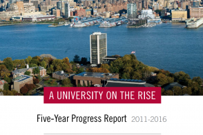 Cover of the A University on the Rise: Five-Year Progress Report