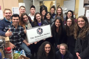 Group of students at the Hoboken Shelter