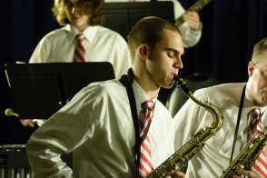 Stevens jazz band at a performance