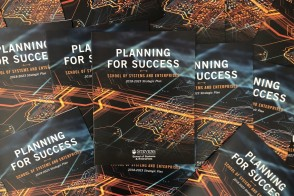 Photo of the School of Systems and Enterprises strategic plan.