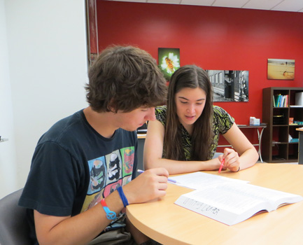 Students at the Stevens Writing & Communication Center